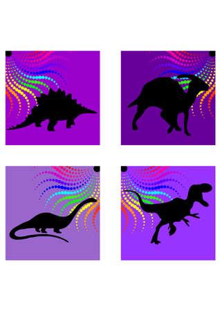 types of dinosaurus silhouette