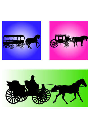 silhouette of the Carriage Classic Illustration