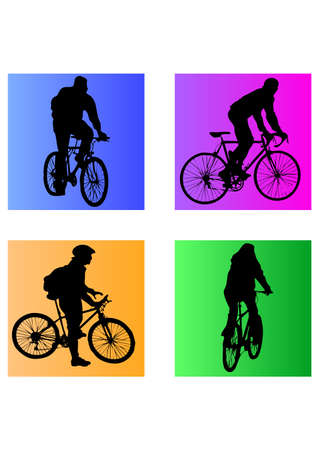silhouette of the Ride  Bicycle