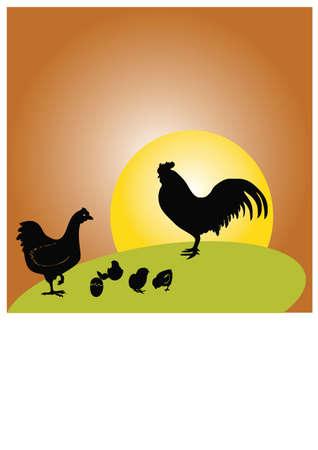 metamorphosis chicken silhouette