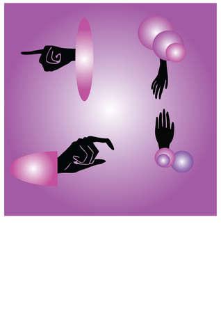 silhouette of fingers Illustration