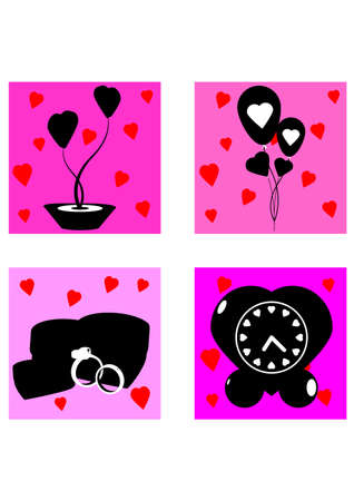 gifts valentine days silhouette Stock Vector - 24938230