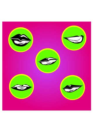 labios sexy: silueta labios sexy Vectores