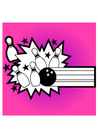 silhouette of crash bowling Vector