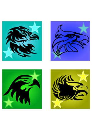 eagle head of silhouette