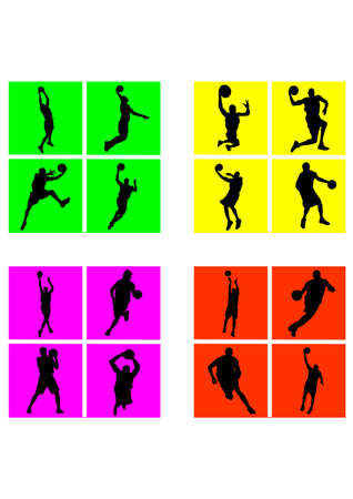 style of basketball silhouette