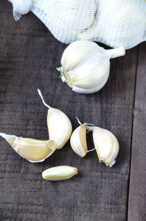 Garlic and honey, fresh and healthy food products, concept for healthy nutrition and strengthening immunity Фото со стока