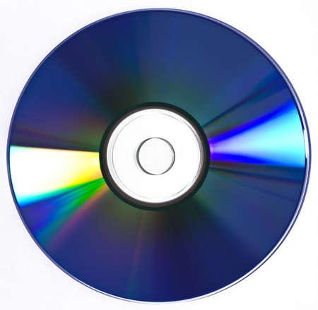 Multimedia disc isolated on white background
