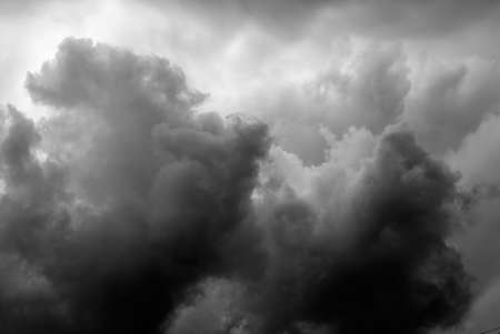 Heavy black storm clouds in the heaven