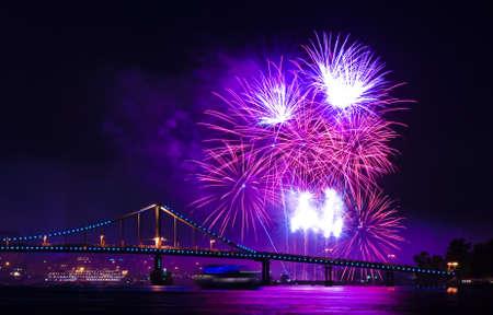 Fireworks show Stock Photo