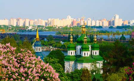Panoramic view of the Vidubichi monastery, Kiev, Ukraine