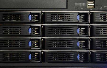 Datacenter network equipment Stock Photo