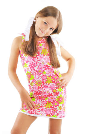 Little girl posing in fashion style photo
