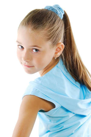 girl in sportswear: Little girl beauty portrait