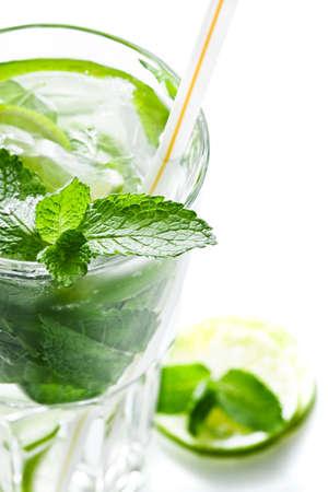 Mojito cocktail on white background
