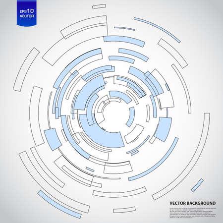 tecnologia virtual: C�rculo tecnolog�a virtual con espacio para su mensaje de negocios Vectores