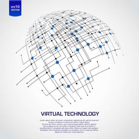 hightech: Abstract technology globe