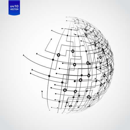 Tecnología Resumen mundo Ilustración de vector