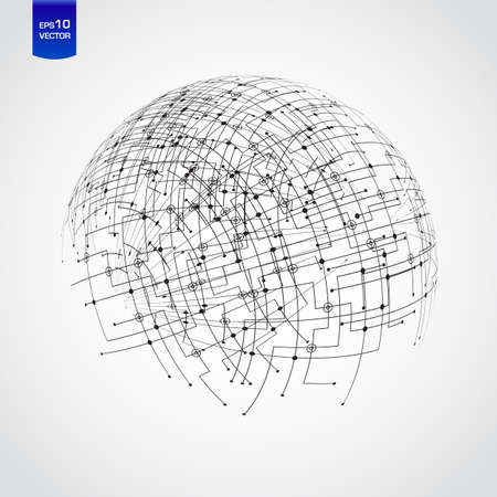 Abstract technology globe Vector