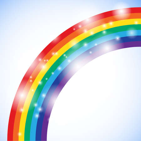 rainbow print: Rainbow illustration with space for your business message