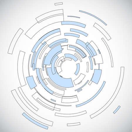 tecnologia virtual: C�rculo tecnolog�a virtual con el espacio