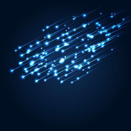 Blue space lights illustration Illustration