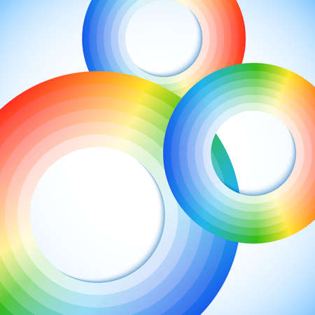Abstract rainbow circles with space for your business message