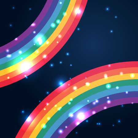 Bright rainbow illustration with space for your design Illustration