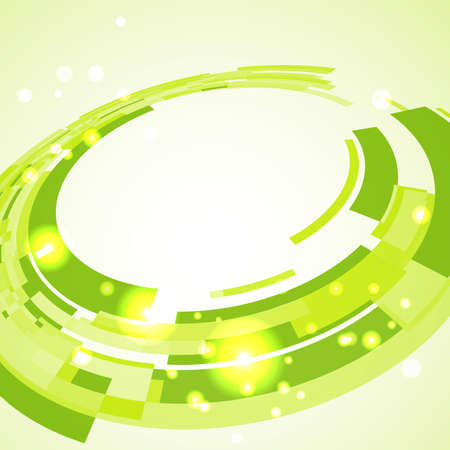 Virtual technological green disk with space for  business message