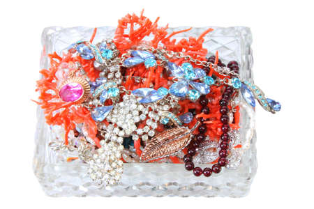 crystal casket with jewels photo
