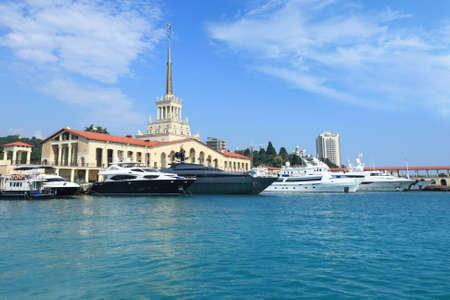 ロシア ソチ市ソチの海運ターミナル
