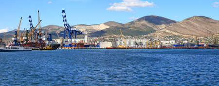 Panoramic view of the port of Novorossiysk  Russia photo