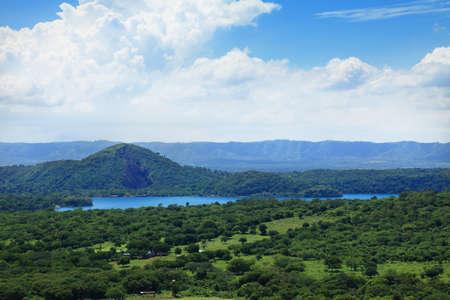 マナグアの近くの豊富な谷。ニカラグア中央アメリカ 写真素材
