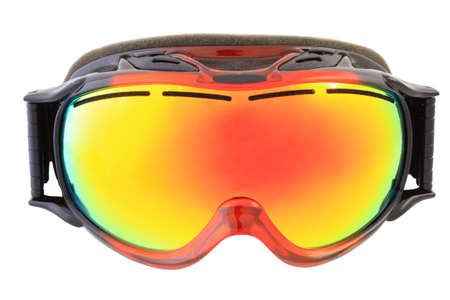 ski goggles on white background isolated Stock Photo