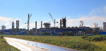 amoniaco: gran planta química en la ciudad de Cherepovets. Rusia