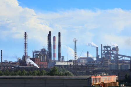 metallurgical: large metallurgical plant in Cherepovets city. Russia.