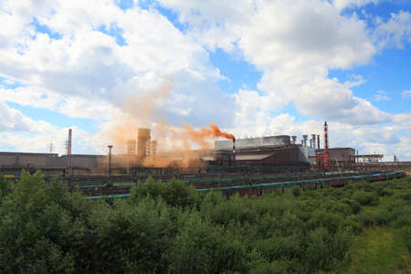 metallurgical: Converter plant of the metallurgical plant in Cherepovets. Russia