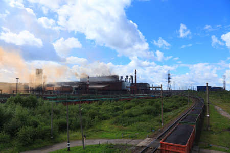 smelting plant: Converter plant of the metallurgical plant in Cherepovets. Russia