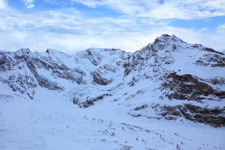 mount Ullukara. view from the glacier Bashkara