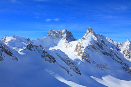 view of some tops of the main caucasus ridge