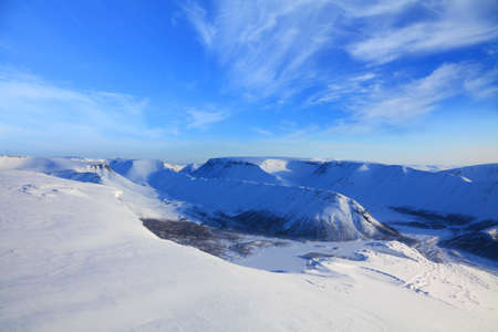 mountain valley in sunny day