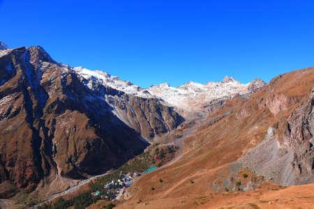 higy mountain resort near elbrus. late autumn in the Caucasus