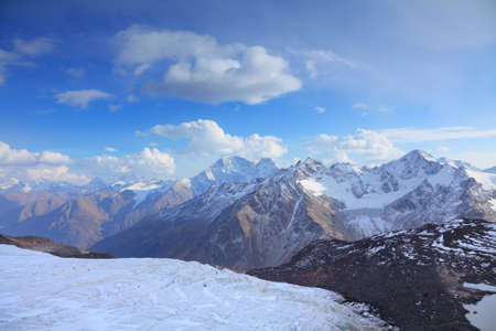 view of the main caucasus ridge from Elbrus