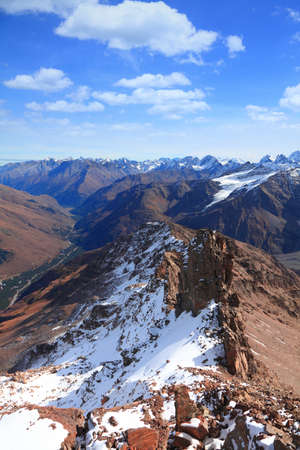 late autumn in the Caucasus. View from the top Banco de Imagens