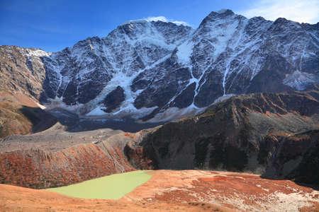 view of the mount Donguzorun (Babis Mta) during autumn. Caucasus.