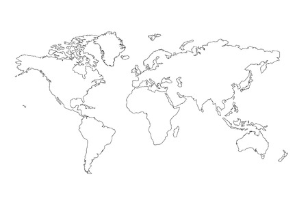 The World Map Outline Background Stock Photo Picture And Royalty