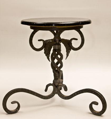 Chair on iron leg, photo on white background