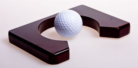 Accessories for game in golf Stock Photo