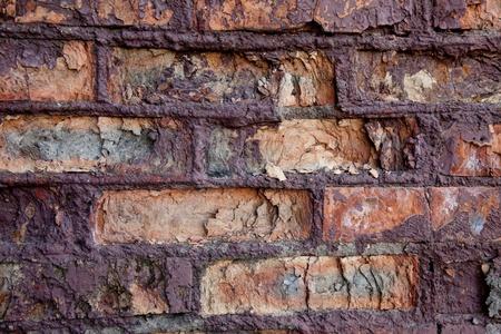Fragment der alten, rissigen Wand Lizenzfreie Bilder