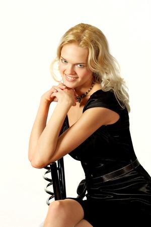 Jung, sch�n, harmonous, blonde sexuellen Lizenzfreie Bilder